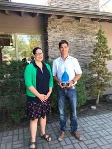 Torrey Lindbo 2018 ORACWA Outstanding Agency Award