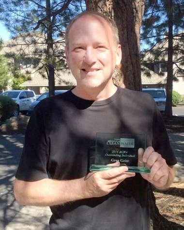 Greg Geist, 2016 Outstanding Individual award recipient