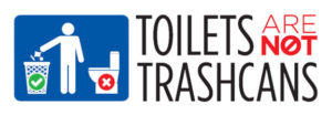 Toilets Are Not Trashcans image